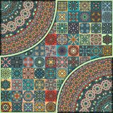 Seamless pattern. Vintage decorative elements. Hand drawn background. Islam, Arabic, Indian, ottoman motifs. Perfect for printing Stock Images
