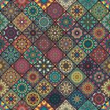 Seamless pattern. Vintage decorative elements. Hand drawn background. Islam, Arabic, Indian, ottoman motifs. Perfect for printing. Colorful vintage seamless Stock Photo