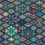 Seamless pattern. Vintage decorative elements. Hand drawn background. Islam, Arabic, Indian, ottoman motifs. Perfect for printing Stock Photos