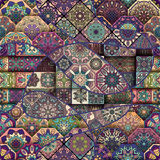 Seamless pattern. Vintage decorative elements. Hand drawn background. Islam, Arabic, Indian, ottoman motifs. Perfect for printing Royalty Free Stock Photography