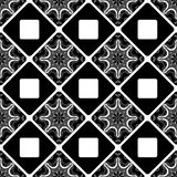 Seamless pattern. Vintage decorative tile with ethnic Arabic, Indian, Islamic, ottoman motifs. Vector illustration Royalty Free Stock Photos