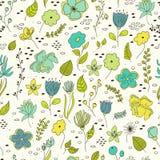 Seamless pattern vintage floral elements. Stock Image