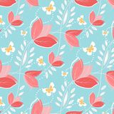 Seamless pattern with vintage flowers Stock Image