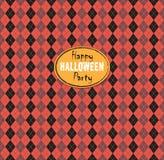 Seamless pattern Of Vintage Happy Halloween Tartan Texture. Hall Royalty Free Stock Images