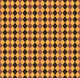 Seamless pattern Of Vintage Happy Halloween Tartan Texture. Hall Stock Photography