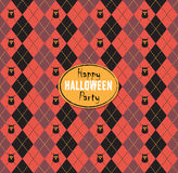 Seamless pattern Of Vintage Happy Halloween Tartan Texture with Stock Photography