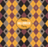 Seamless pattern Of Vintage Happy Halloween Tartan Texture with Royalty Free Stock Image