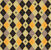 Seamless pattern Of Vintage Happy Halloween Tartan Texture with Royalty Free Stock Photography