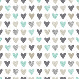 Seamless pattern with vintage hatchet hearts Royalty Free Stock Images