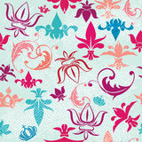 Seamless pattern with vintage heraldic elements Royalty Free Stock Image