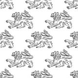 Seamless pattern of a vintage Royalty Free Stock Images