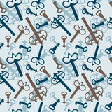 Seamless pattern with vintage keys Royalty Free Stock Images