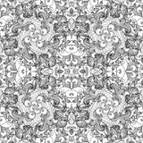 Seamless pattern with vintage ornament. Background in ornamental motifs. Vector. Seamless pattern with vintage ornament. Background in ornamental motifs. Vector Stock Image