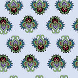 Seamless pattern with vintage ornaments. Seamless background with decorative elements vector illustration