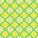 Seamless pattern with a vintage pattern of sprouting hearts Stock Photos