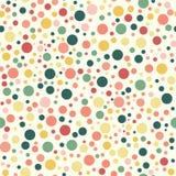 Seamless pattern, vintage polka dot texture Stock Image