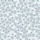 Seamless pattern in vintage, retro colors for the New Year and Christmas. Snow. Seamless pattern in vintage, retro colors for the New Year and Christmas. A Stock Photo