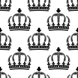 Seamless pattern of vintage royal crowns Stock Image