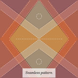 Seamless pattern. Vintage rural style. Fabric clothing, carpet or blanket. Stock Images