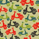 Seamless pattern with vintage scooters Stock Image