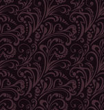 Seamless pattern. Vintage style background with floral ornaments. Abstract composition with vinous elements on black backdrop. Illustration with an elegant Royalty Free Stock Image