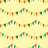 Seamless pattern with vintage-styled pennants Stock Images