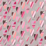 Seamless pattern with  vintage tilda hearts. Stock Photos