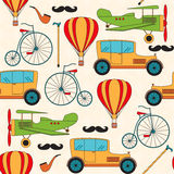 Seamless pattern with vintage transport. Stock Photo