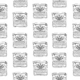 Seamless pattern with vintage typewriters Royalty Free Stock Image