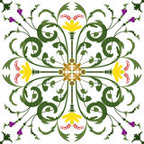 Seamless Pattern Vintage Victorian Colorfully Tile Stock Photos