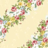 Seamless Pattern with Vintage Wildflowers Royalty Free Stock Photo