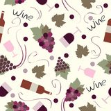 Seamless pattern vintage wine Royalty Free Stock Images