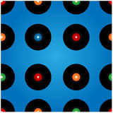 Seamless pattern of vinyl records Stock Images