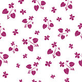 Seamless pattern with viole Stock Photo