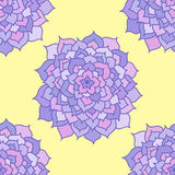 Seamless Pattern Of Violet Flowers Stock Image