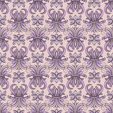 Seamless pattern, violet tracery Royalty Free Stock Photography