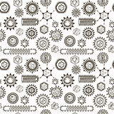 Seamless pattern with viruses. Royalty Free Stock Image