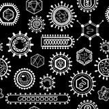 Seamless pattern with viruses. Stock Image