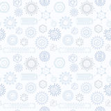 Seamless pattern with viruses. Stock Images