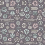 Seamless pattern with viruses. Royalty Free Stock Photos