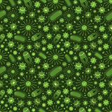 Seamless pattern with the viruses Stock Images