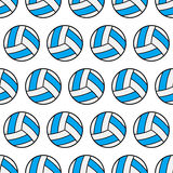 Seamless pattern of volleyball, sports balls. Vector Stock Photography