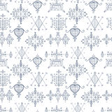 Seamless pattern with Voodoo spirits symbols. Royalty Free Stock Photography