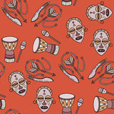 Seamless pattern with voodoo symbols. Royalty Free Stock Images
