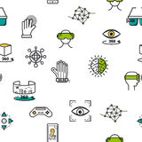 Seamless pattern with vr icons Stock Images