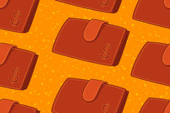 Seamless Pattern with Wallet Royalty Free Stock Photos