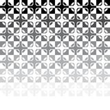 Black and white abstract tile mosaic. vector Royalty Free Stock Photography