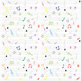 Seamless pattern wallpaper of musical notes Royalty Free Stock Photo