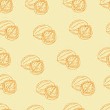 Seamless pattern with walnuts Stock Image