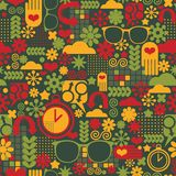 Seamless pattern with watch. Royalty Free Stock Photo